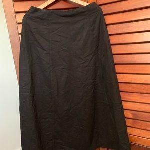 Eddie Bauer Wool blend long skirt